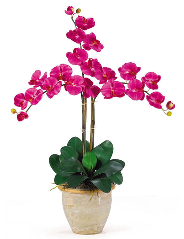 1017-BU Beauty Phalaenopsis Silk Orchid in 8 colors by Nearly Natural | 27 inches