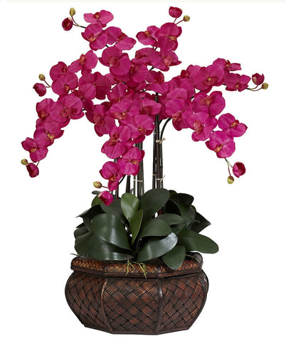 1201-BU Beauty Large Phalaenopsis Silk Orchid in 8 colors by Nearly Natural | 30""