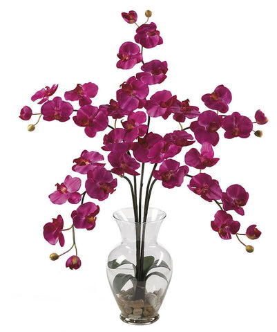 1106-BU Beauty Silk Phalaenopsis in Water in 8 colors by Nearly Natural | 31 inches