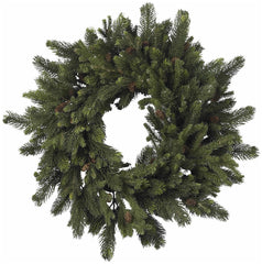 4915 Pine & Pine Cone Silk Holiday Wreath by Nearly Natural | 30 inches