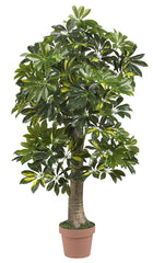 5305 Schefflera Artificial Tree with Planter by Nearly Natural | 4 feet