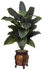 6695 Giant Silk Spathiphyllum Plant w/Planter by Nearly Natural | 58 inches