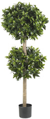 5311 Sweet Bay Silk Double Ball Topiary Tree by Nearly Natural | 57 inches
