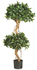 5233 Sweet Bay Silk Double Ball Topiary Tree by Nearly Natural | 4 feet