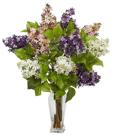 1256-AS Assorted Lilac Silk Flowers in Water in 4 colors by Nearly Natural | 24 inches