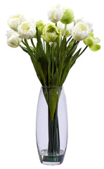 4792 Tulip Artificial Silk Flowers in Water by Nearly Natural | 20 inches