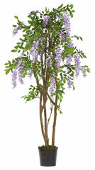 5015-PP Wisteria Artificial Silk Tree with Planter by Nearly Natural | 5 feet