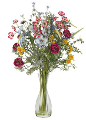 4696 Veranda Garden Silk Flowers in Water by Nearly Natural | 26 inches