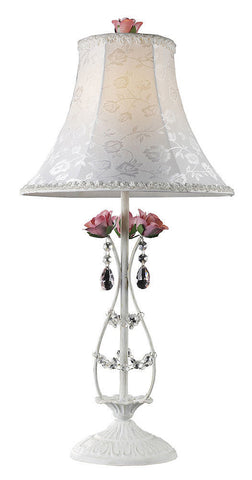 4051/1 Mary Kate & Ashley Rosavita 1-LT Table Lamp Roses Crystal ELK Lighting