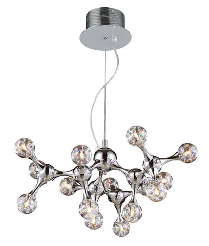 30025/15 Molecular 15-Light Chandelier Chrome w/Iridescent Glass ELK Lighting