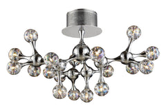 30026/18 Molecular 18-Light Semi Flush Chrome w/Iridescent Glass ELK Lighting