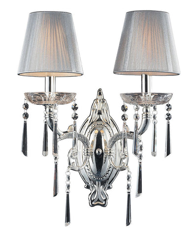 2392/2 Princess 2-Light Sconce in Chrome with Clear Crystal ELK Lighting