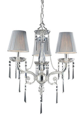 2395/3 Princess 3-Light Chandelier in Chrome with Clear Crystal ELK Lighting