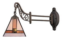 079-TB-01 Symmetrical Mix-N-Match 1-Light Tiffany-Style Sconce ELK Lighting