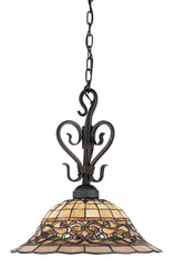 362-VA-LED Tiffany Buckingham 1-L Pendant Vintage Antique ELK Lighting