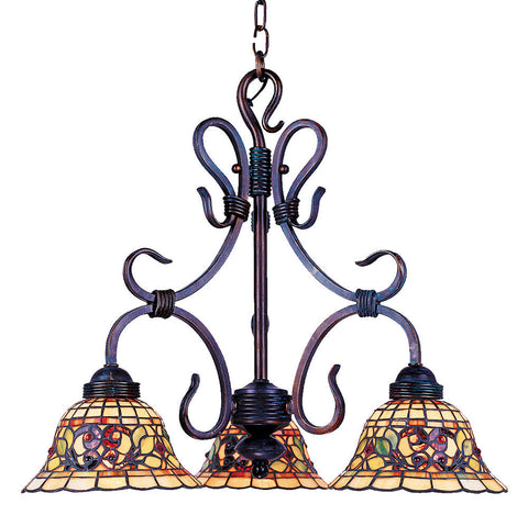 363-VA Tiffany Buckingham 3-LT Chandelier Vintage Antique ELK Lighting