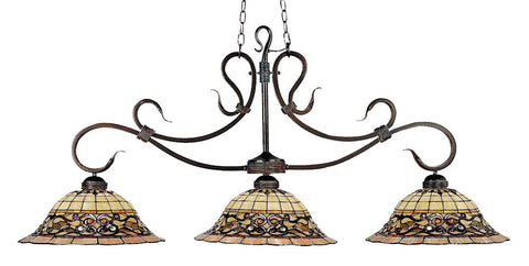 348-VA Tiffany Buckingham 3-LT Island/Billiard Vintage Antique ELK Lighting