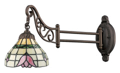 079-TB-09 Tulip Mix-N-Match 1-Light Tiffany-Style Swingarm Sconce ELK Lighting