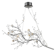 30032/10 Viviana 10-Lite Chandelier in Chrome w/Crystal Florets ELK Lighting