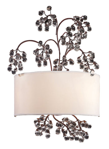 20058/2 Winterberry 2-Light Wall Sconce in Antique Darkwood ELK Lighting