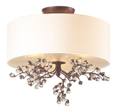 20089/3 Winterberry 3-Light Semi Flush in Antique Darkwood ELK Lighting