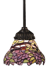 078-TB-28 Wisteria Mix-N-Match 1-Light Tiffany-Style Mini Pendant ELK Lighting