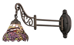 079-TB-28 Wisteria Mix-N-Match 1-Light Tiffany-Style Sconce ELK Lighting