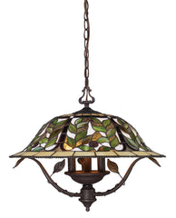 08016-TBH Latham 3-Light Tiffany-Style Chandelier in Tiffany Bronze ELK Lighting