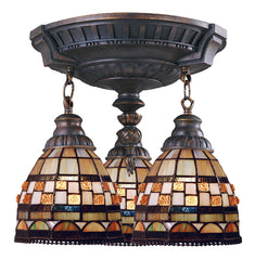997-AW-10 Jewelstone Mix-N-Match 3-Light Tiffany-Style Semi Flush ELK Lighting