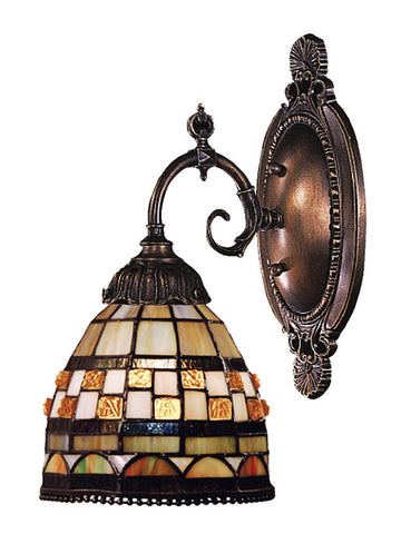 071-TB-10 Jewelstone Mix-N-Match 1-Lite Tiffany-Style Sconce ELK Lighting