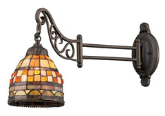 079-TB-10 Jewelstone Mix-N-Match 1-Light Tiffany-Style Sconce ELK Lighting