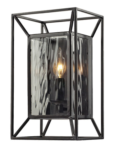 14120/1 Cubix 1-Light Sconce Oiled Bronze w/Water Glass ELK Lighting