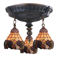 997-AW-07 Grapevine Mix-N-Match 3-Light Tiffany-Style Semi Flush ELK Lighting