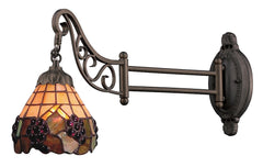 079-TB-07 Grapevine Mix-N-Match 1-Light Tiffany-Style Sconce ELK Lighting