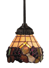 078-TB-07 Grapevine Mix-N-Match 1-Light Tiffany-Style Mini Pendant ELK Lighting
