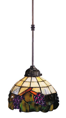 238-VA Grapevine 1-Light Tiffany-Style Pendant Vintage Antique ELK Lighting