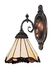 071-TB-03 Grape Trellis Mix-N-Match 1-Lite Tiffany-Style Sconce ELK Lighting