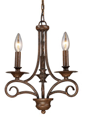 15041/3 Gloucester 3-Light Chandelier in Antique Bronze ELK Lighting