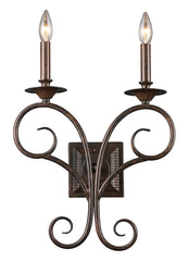 15040/2 Gloucester 2-Light Sconce in Antique Bronze ELK Lighting