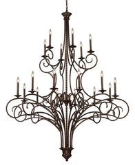 15044/12+6 Gloucester 18-Light Chandelier in Antique Bronze ELK Lighting