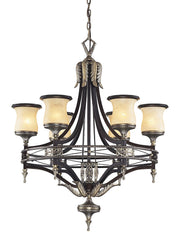 2431/6 Georgian Court 6-Light Chandelier in Antique Bronze/Umber ELK Lighting