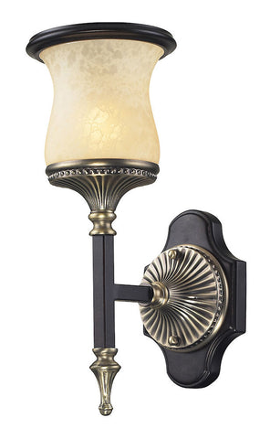 2420/1 Georgian Court 1-Light Sconce in Antique Bronze/Umber ELK Lighting