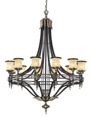 2434/12 Georgian Court 12-Light Chandelier Antique Bronze/Umber ELK Lighting