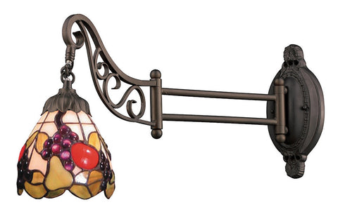 079-TB-19 Fruit Mix-N-Match 1-Light Tiffany-Style Swingarm Sconce ELK Lighting
