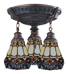 997-AW-21 Floral Heart Mix-N-Match 3-Light Tiffany-Style Semi Flush ELK Lighting