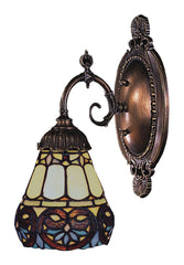 071-TB-21 Floral Heart Mix-N-Match 1-Lite Tiffany-Style Sconce ELK Lighting
