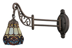 079-TB-21 Floral Heart Mix-N-Match 1-Light Tiffany-Style Sconce ELK Lighting