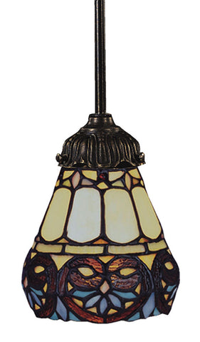 078-TB-21 Floral Heart Mix-N-Match 1-Light Tiffany-Style Pendant ELK Lighting