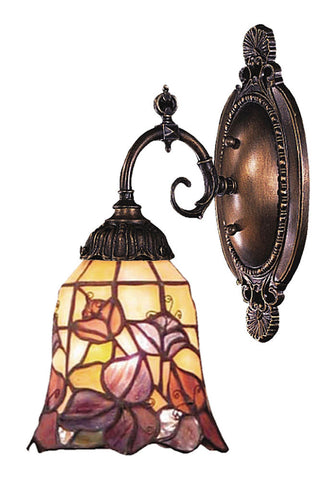 071-TB-17 Floral Garden Mix-N-Match 1-Lite Tiffany-Style Sconce ELK Lighting