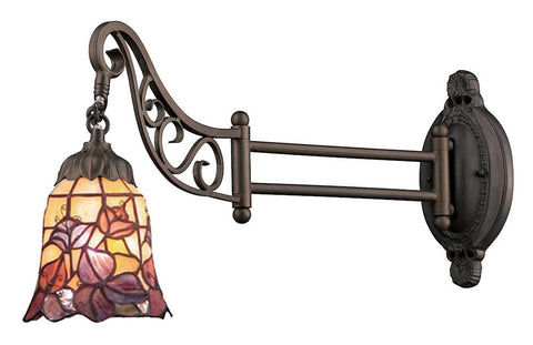 079-TB-17 Floral Garden Mix-N-Match 1-Light Tiffany-Style Sconce ELK Lighting